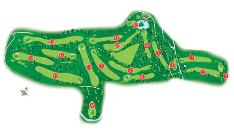 Plan du parcours du Golf PGA France du Vaudreuil