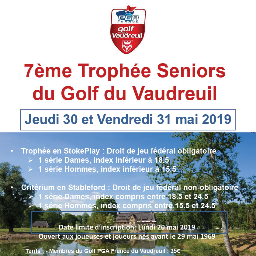 Trophée Seniors du Golf PGA France 2019