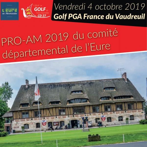 Pro-am 2019 du Comité Départemental de l'Eure au Golf PGA France du Vaudreuil.