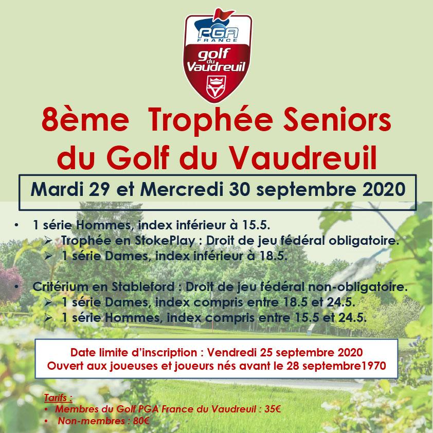 8ème Trophée Seniors du Golf PGA FRance du Vaudreuil
